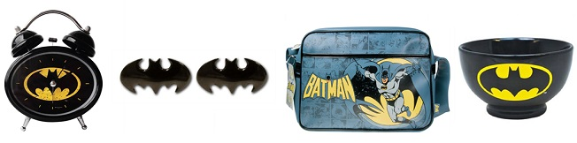 An assortment of Batman gifts