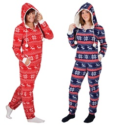 Red and Blue Christmas Onesies