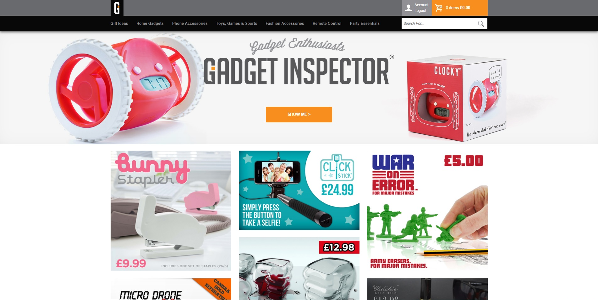 New Gadget Inspector site