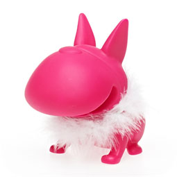 Bulldog Piggy Bank: Feather Boa