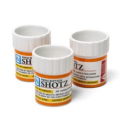 Prescription Shot Glass Set - 3 Pack