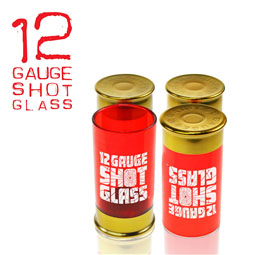12 Gauge Shot Glasses: Bullet Shaped Shot Glasses (4 per pack)