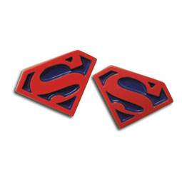 Superman Logo Cufflinks (Red & Blue)