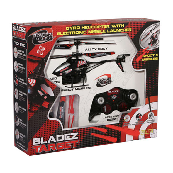 Bladez Target: RC Helicopter with Missiles