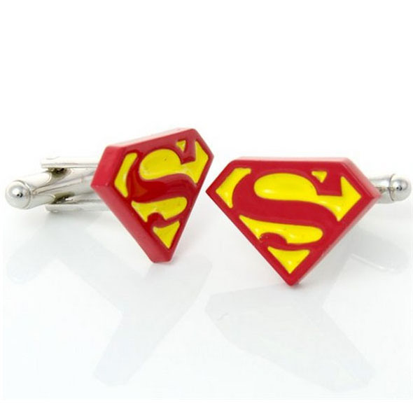 Superman Logo Cufflinks (Red & Yellow)
