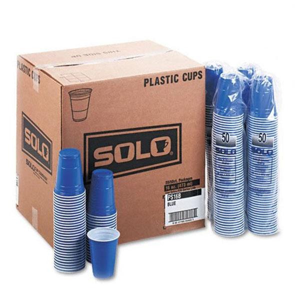 16oz Blue Solo Cups