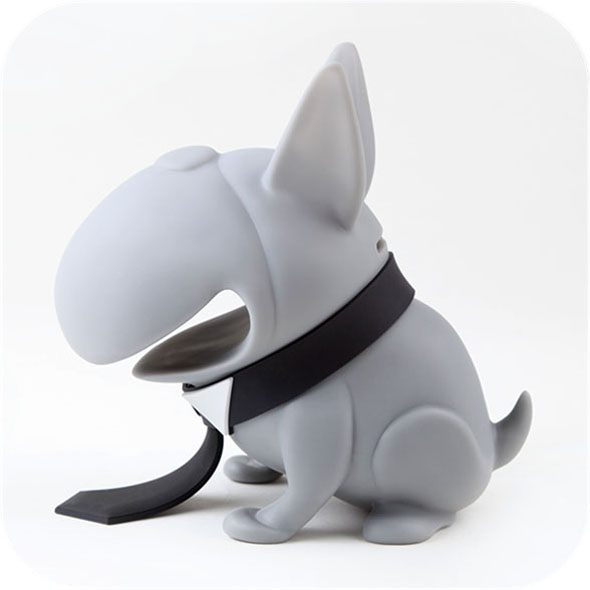 Bulldog Piggy Bank: Black Tie
