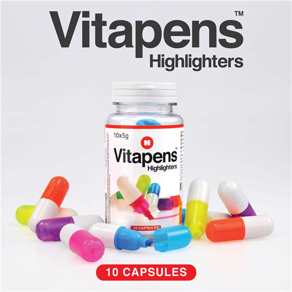 Vitapens Highlighters: Vitamin Shaped Highlighters