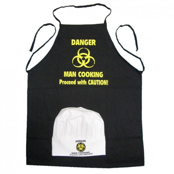 Danger - Man Cooking (Apron and Hat Set)
