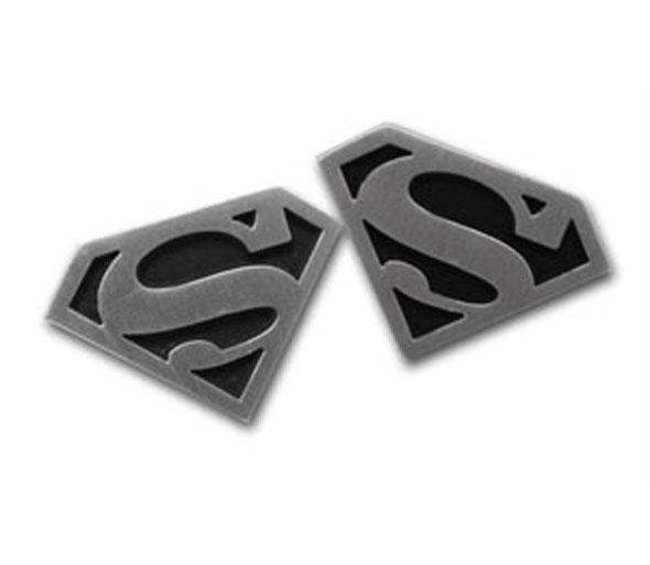 Superman Logo Cufflinks (Silver & Black)