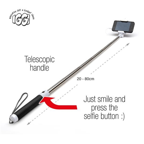 IGGI Pocket Selfie Stick with Cable
