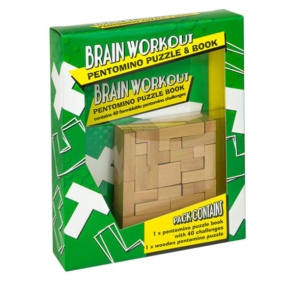 Brain Workout Pentomino Puzzle & Book