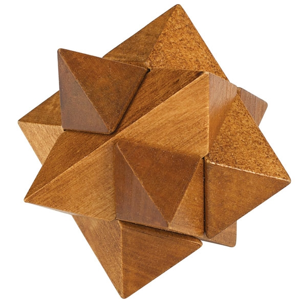 Chunky Wooden Puzzle - Star