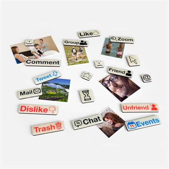 Social Media Fridge Magnets