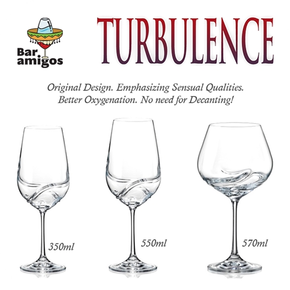 Turbulence Wine Glasses (570ml, 2 Pack)
