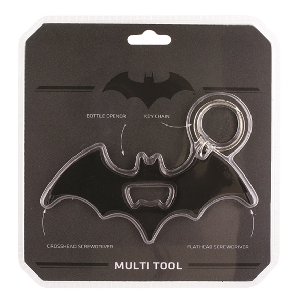 Batman Multi Tool: Keychain, Bottle Opener & Screwdrivers