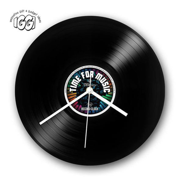 Retro Record Clock: Time For Music