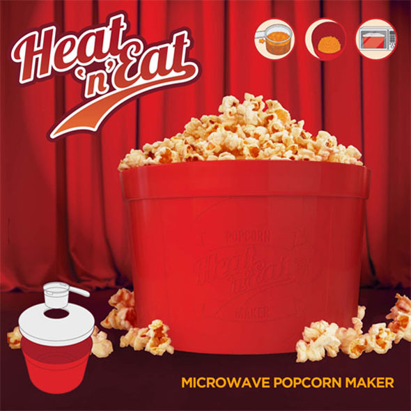 Heat 'n' Eat Popcorn Maker