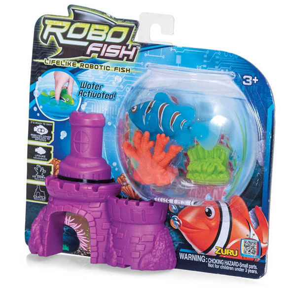 Robo Fish With Castle And Coral