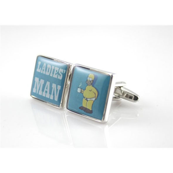 Homer Simpson Cufflinks: Ladies' Man
