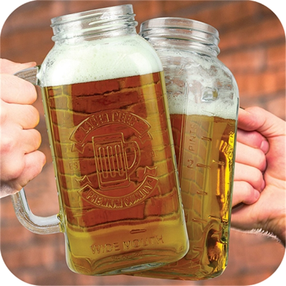 Jam Jarred 2 Litre Beer Stein