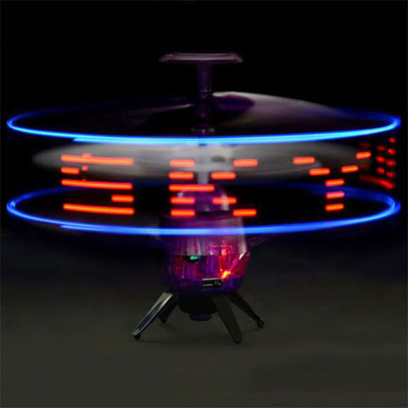 UFO Space Messenger: LED Messages in the Air!