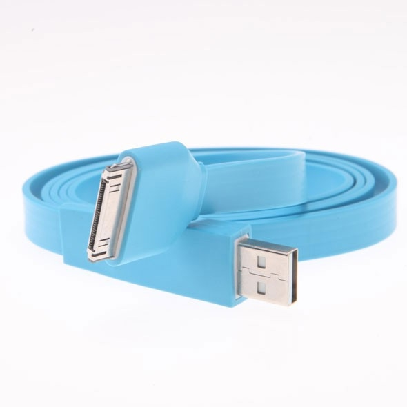 Flat USB cable for iPhone and iPod