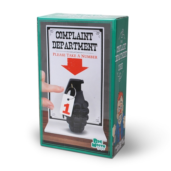 Complaint Department Grenade Ornament