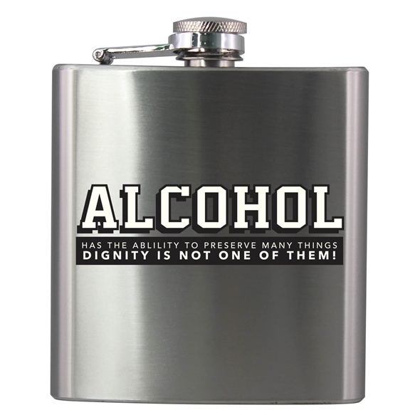 'Alcohol' Novelty Hip Flask