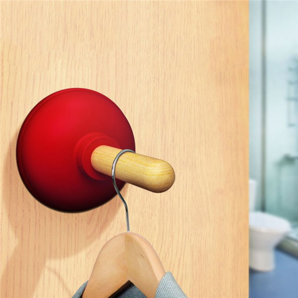Plunged - Toilet Plunger Shaped Door Hook