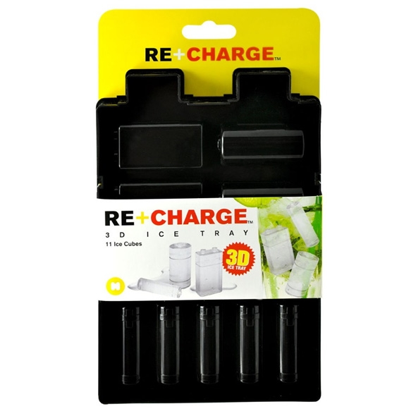 Recharge Ice Tray: Battery Shaped Ice Cubes