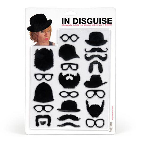 moustache magnet set