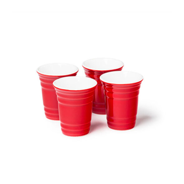 Red Cup Party Shot Glasses (Ceramic)