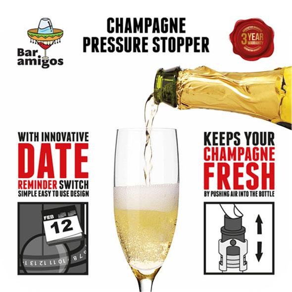 Bar Amigos Champagne Pressure Stopper