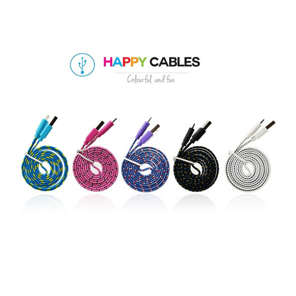 Happy Cables - Lightning iPhone 5/5s/6/6s iPad Charger Cables