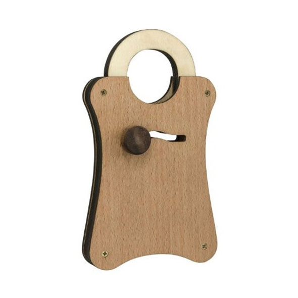 Houdini Wooden Puzzle Lock - The Utterly A-Maze-Ing Lock